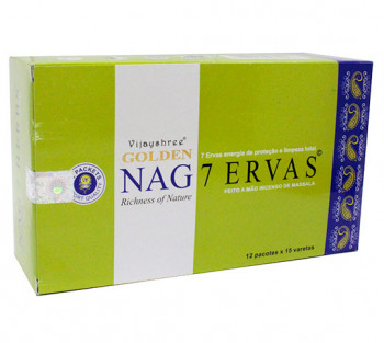 GOLDEN NAG 7 ERVAS - Incenso Indiano massala