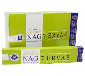 GOLDEN NAG 7 ERVAS - Incenso Indiano massala (valor unitário)