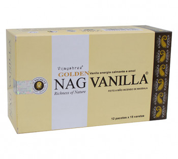GOLDEN NAG VANILLA (baunilha) - Incenso Indiano massala