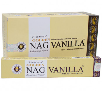 GOLDEN NAG VANILLA (baunilha) - Incenso Indiano massala (valor unitário)
