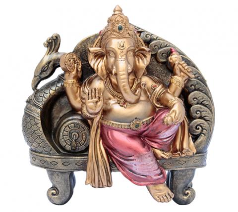 Ganesha Bronzeado - 19x19cm